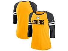 Nike Pittsburgh Steelers Women's Three-Quarter Sleeve Raglan Shirt