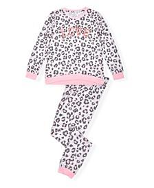 Big Girls Pajama Set with Love Screen