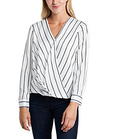 Vince Camuto Women's Long Sleeve Wrap Front Blouse
