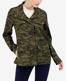 Junior's Camo Cotton Utility Jacket