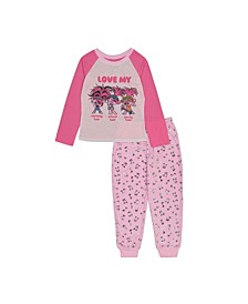 Trolls Little and Big Girls Trolls 2-Piece Pajama Set