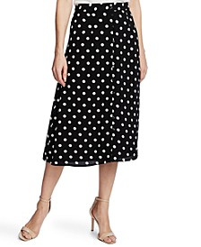 Disco Dot-Print Midi Skirt