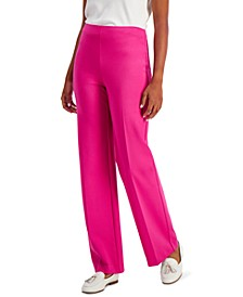 Petite Ponté-Knit Pull-On Pants, Created for Macy's