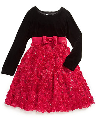 Dress girls plus sequined soutache holiday dress kids amp baby macy