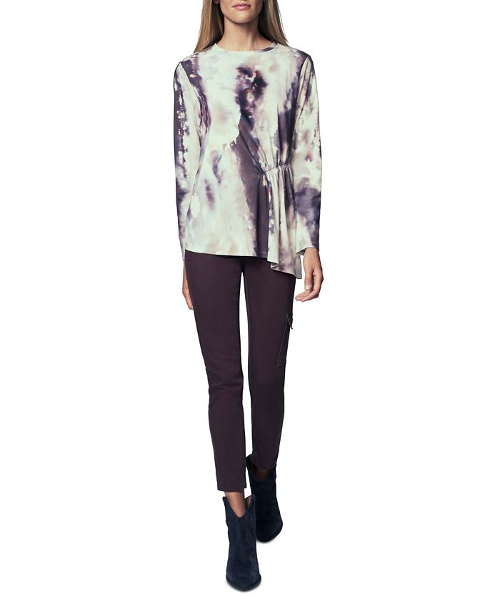 b new york - Printed Side-Ruched Top