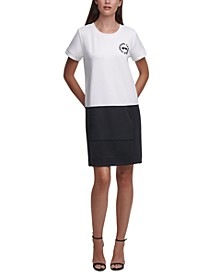 Karl Lagerfeld Colorblocked Shirtdress