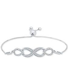 Diamond Infinity Bolo Bracelet (1/6 ct. t.w.) in Sterling Silver