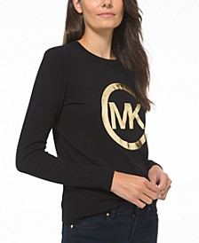 Metallic Logo Graphic Sweater