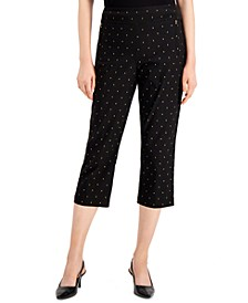 Foil-Print Tummy-Control Capri Pants, Created for Macy's