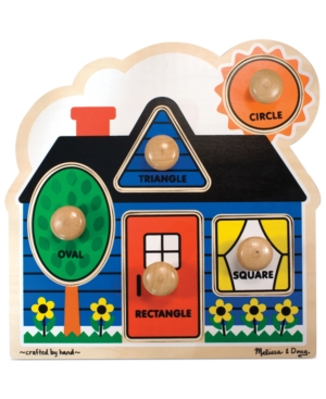 Melissa and Doug Kids Toy First Shapes Jumbo Knob Puzzle