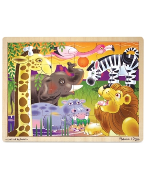 Melissa and Doug Kids Toy African Plains 24Piece Jigsaw Puzzle