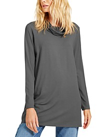Cowl-Neck Knit Tunic, Created for Macy's, Available in Regular & Petite Sizes