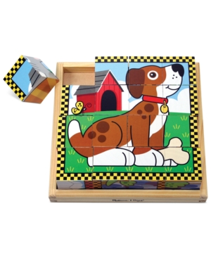 Melissa and Doug Kids Toy Pets Cube Puzzle
