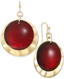 Gold-Tone Disk & Stone Drop Earrings, Created for Macy's