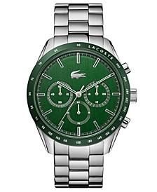 Men's Chronograph Stainless Steel Bracelet Watch 42mm
