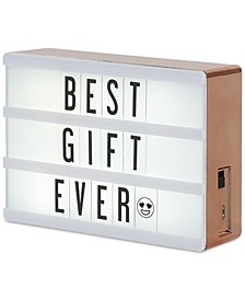 Cinema Rose Gold Lightbox