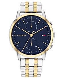 Men's Two-Tone Stainless Steel Bracelet Watch 44mm
