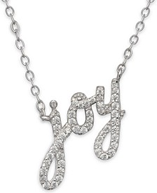 """Cubic Zirconia 18"""" Holiday Pendant Necklace in Sterling Silver in Ornament Box, Created for Macy's"""