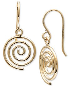Spiral Drop Earrings in 18k Gold-Plated Sterling Silver, Created for Macy's
