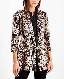 INC Animal-Print Jacket, Created for Macy's