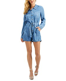Button-Down Belted Romper