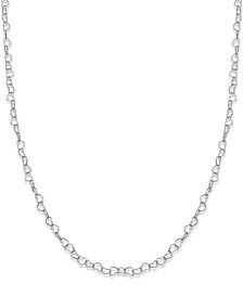 "Heart Link 18"" Chain Necklace in Sterling Silver, Created for Macy's"