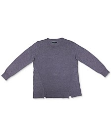 Crewneck Notch-Hem Sweater, Created for Macy's