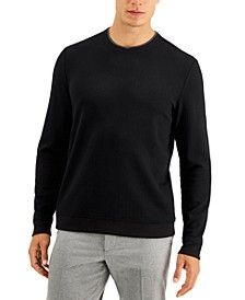 Men's Crossover Textured Sweater, Created for Macy's