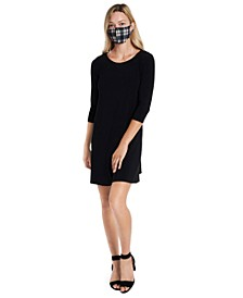 Shift Dress & Face Mask Necklace