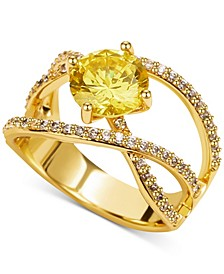 Gold-Tone Crystal Woven Ring, Created for Macy's