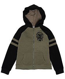 Big Boys Full Zip Hooded Fleece Jacket