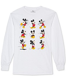 Juniors' Mickey Mouse Poses Long Sleeve Shirt