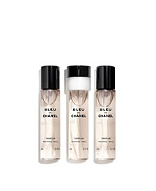 Men's 3-Pc. BLEU DE CHANEL Parfum Twist & Spray Refill Set