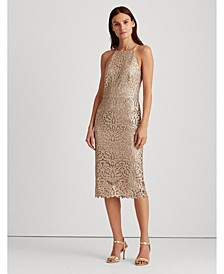 Sequined Lace Dress