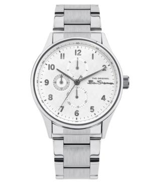Men's Silver-Tone Stainless Steel Multifunction Watch