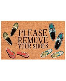 Liora Manne Natura Please Remove Your Shoes l Neutral 2' x 3' Area Rug