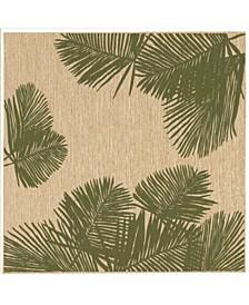"Carmel Palm 7'10"" x 7'10"" Square Rug"