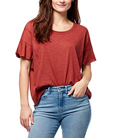 Annika Flutter-Sleeve Top