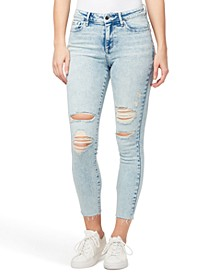 Ripped Mid-Rise Ankle Skinny Jeans