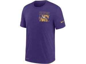 Nike Minnesota Viking Men's Dri-Fit Cotton Facility T-shirt