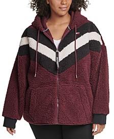 Plus Size Fleece Zip-Up Hoodie