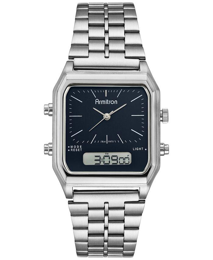 Armitron - Men's Analog-Digital Stainless Steel Bracelet Watch 32.5mm