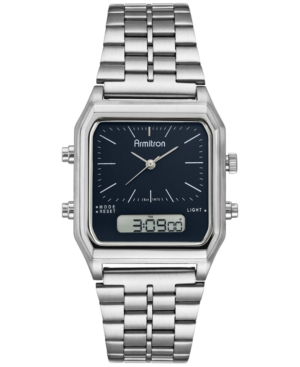 Men's Analog-Digital Stainless Steel Bracelet Watch 32.5mm