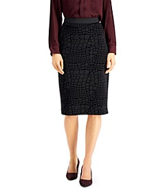 Animal-Print Pencil Skirt, Created for Macy's