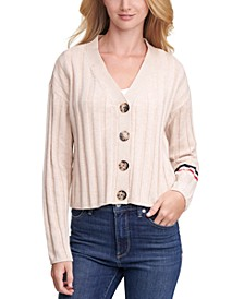 Cropped Textured Cardigan