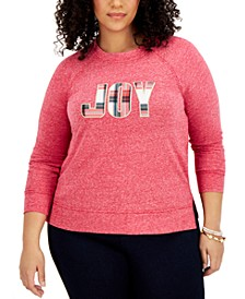 Plus Size Whimsy Embroidered Sweatshirt, Created for Macy's