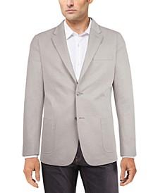 Men's Modern-Fit Solid Textured Knit Sport Coat