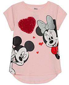 Little Girls Minnie Mouse Heart T-Shirt