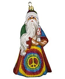 Glitterazzi Tie Dye Santa with Lava Lamp Ornament