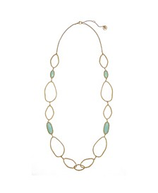 Gold-Tone Long Link Necklace
